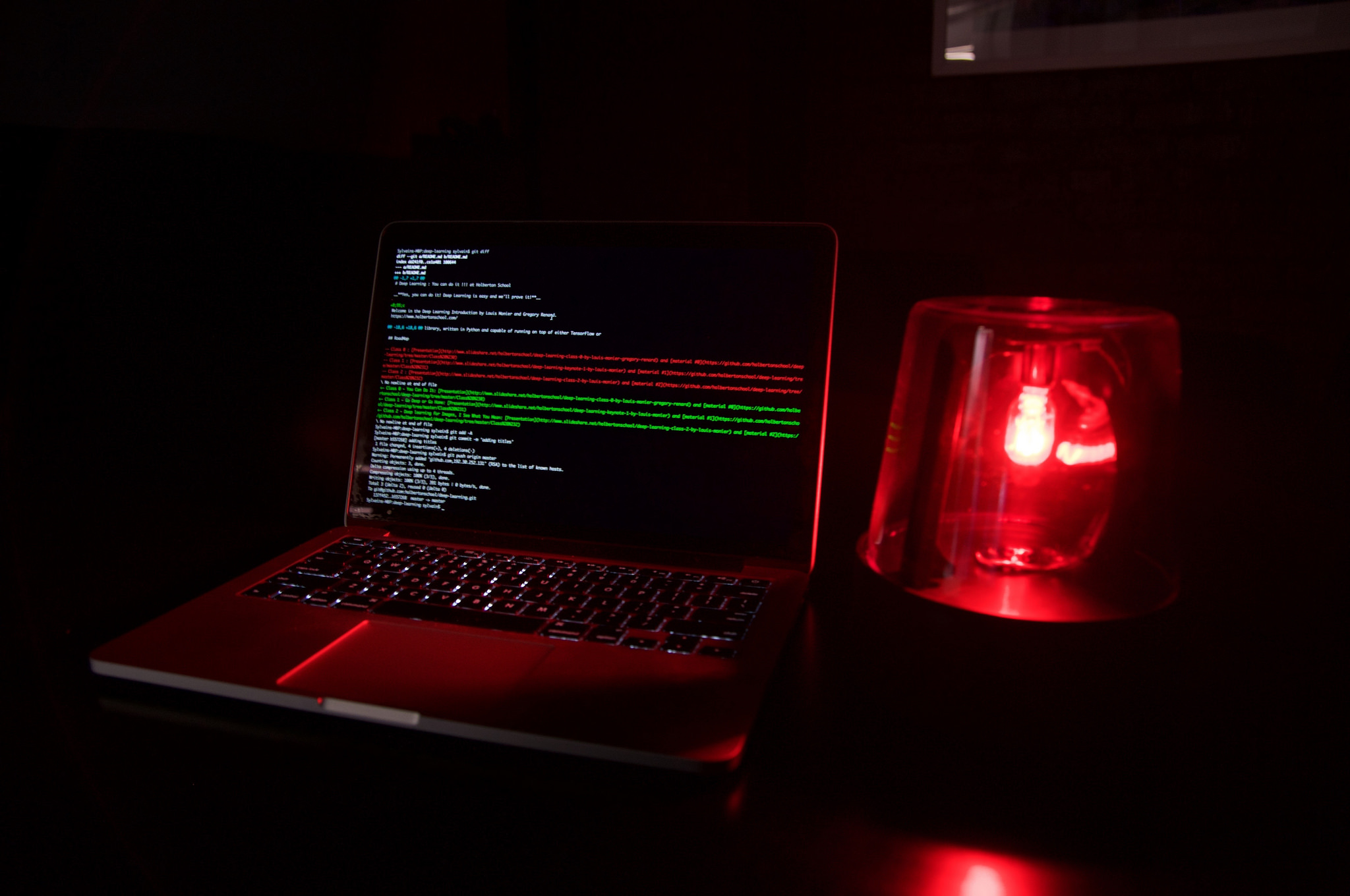 laptop command line dark siren